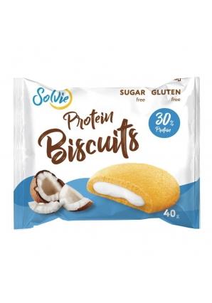 Протеиновое бисквитное печенье Protein Biscuits 40 гр 1 шт (Solvie)