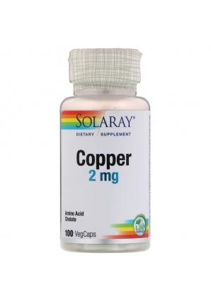 Copper 2 мг 100 капс (Solaray)