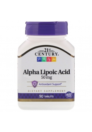 Alpha Lipoic Acid 50 мг 90 табл (21st Century)