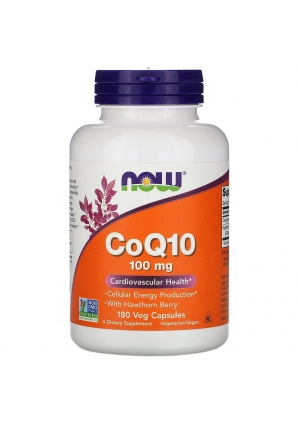 CoQ10 with Hawthorn Berry 100 мг 180 капс (NOW)