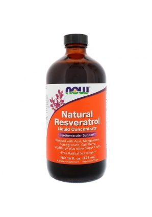 Natural Resveratrol Liquid Concentrate 473 мл (NOW)