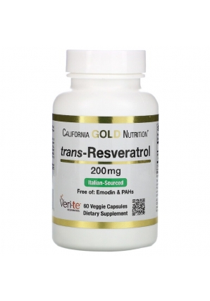 Trans-Resveratrol 200 мг 60 капс (California Gold Nutrition)