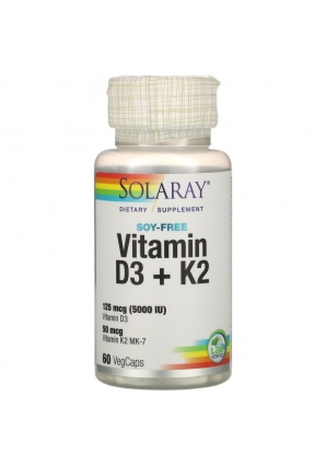 Vitamin D3 + K2 60 капс (Solaray)