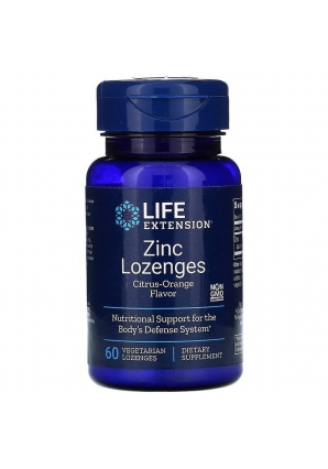 Zinc Lozenges 60 леденцов (Life Extension)