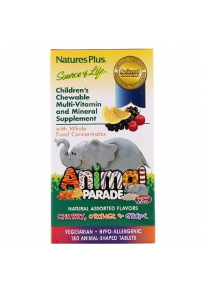 Animal Parade Children's Chewable Multi-Vitamin & Mineral 180 жев.табл (Natures Plus)