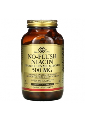 No-Flush Niacin 500 мг 250 капс (Solgar)
