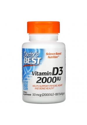 Vitamin D3 2000 МЕ 180 капс (Doctor's Best)