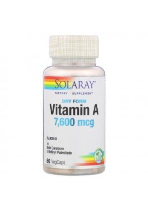 Vitamin А 7600 мкг 60 капс (Solaray)