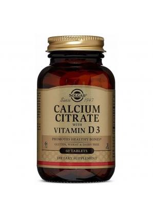 Calcium Citrate with Vitamin D3 60 табл (Solgar)