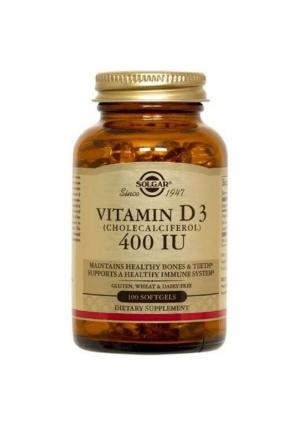 Vitamin D3 10 мкг (400 МЕ) 100 капс (Solgar)