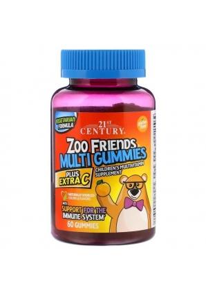 Zoo Friends Multi Gummies Plus Extra C 60 жев. конфет (21st Century)