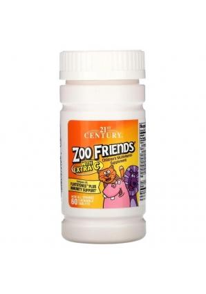 Zoo Friends with Extra C 60 жев. конфет (21st Century)