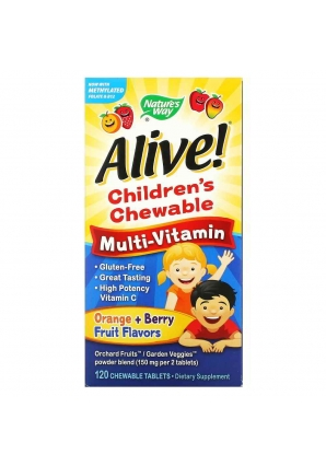Alive! Children's Chewable Multi-Vitamin 120 жев. конфет (Nature's Way)