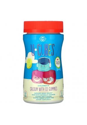 U-Cubes Calcium with D3 Gummies 60 жев.табл. (Solgar)