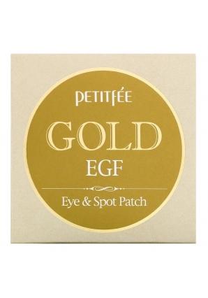 Гидрогелевые патчи для глаз с золотом Gold & EGF Eye Spot Patch 60 шт (Petitfee)