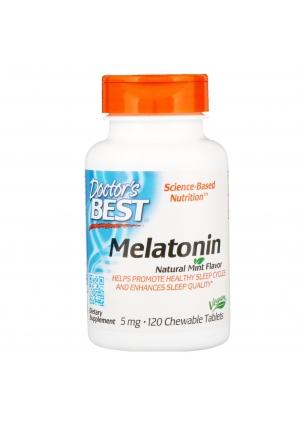Melatonin Natural Mint Flavor 5 мг 120 жев.табл. (Doctor's Best)