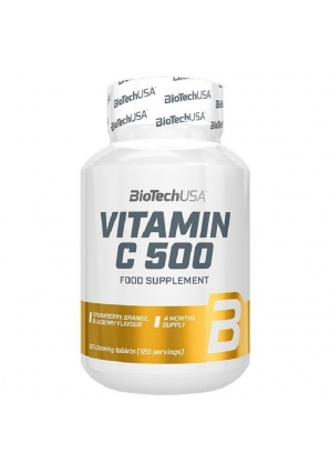 Vitamin C 500 мг 120 жев.табл. (BioTechUSA)