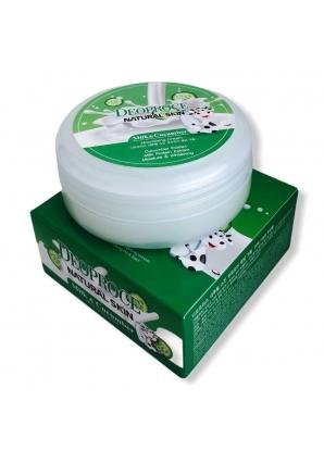 Питательный крем для лица с молоком и экстрактом огурца Natural Skin Nourishing Cream Milk Cucumber 100 гр (Deoproce)