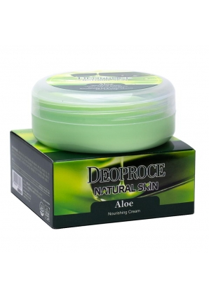 Крем для лица и тела на основе экстракта сока алое Natural Skin Aloe Nourishing Cream 100 гр (Deoproce)