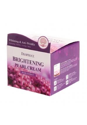Питательный крем для лица с экстрактом жемчуга Brightening Pearl Cream 100 гр (Deoproce)