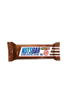 Протеиновый батончик NUTSBAR с жареным арахисом, карамелью и нугой 50 гр (Power Pro)