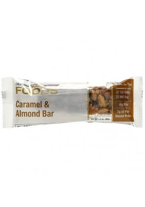 Батончик с карамелью и миндалем 1 шт 40 гр (California Gold Nutrition)