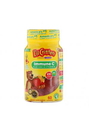 Immune C витамин С с цинком и витамином D 60 жев. таб. (L'il Critters)