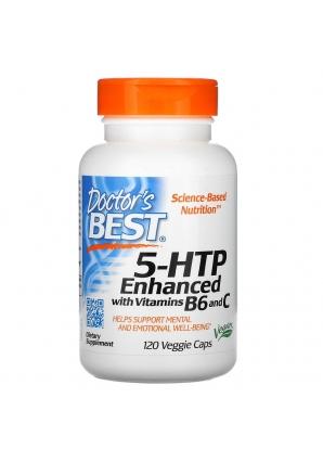 5-HTP Enhanced with Vitamins B6 & C 120 капс (Doctor's Best)