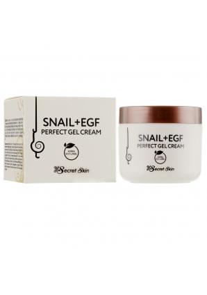 Крем-гель для лица с экстрактом улитки Snail + EGF Perfect Gel Cream 50 мл (Secret Skin)