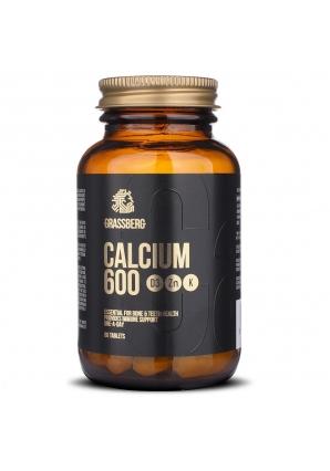 Calcium 600 + D3 + Zn + Vit K1 60 табл (Grassberg)