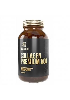 Collagen Premium 500 мг + Vit C 40 мг 60 капс  (Grassberg)