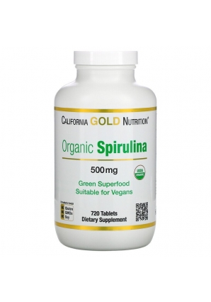 Organic Spirulina 500 мг 720 табл (California Gold Nutrition)
