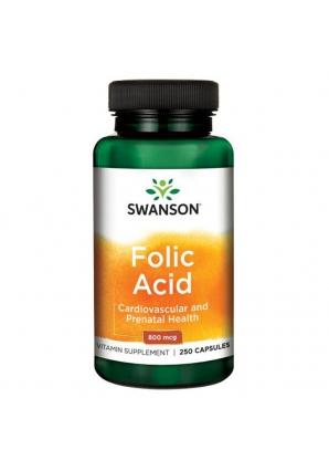 Folic Acid 800 мкг 250 капс (Swanson)