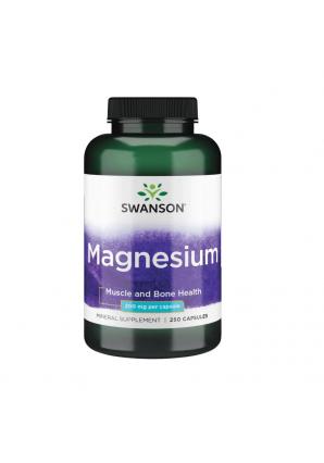 Magnesium 200 мг 250 капс (Swanson)
