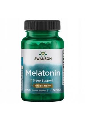 Melatonin 3 мг 120 капс (Swanson)