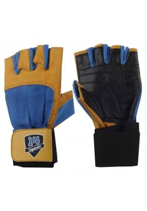 Перчатки черно-сине-желтые (Superior 14 Supplements)