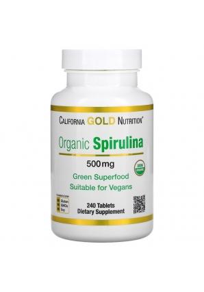 Organic Spirulina 500 мг 240 табл (California Gold Nutrition)