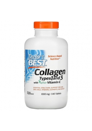 Collagen Types 1 and 3 with Peptan Vitamin C 1000 мг 540 табл (Doctor's Best)