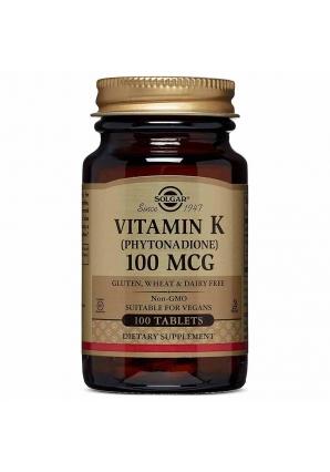 Vitamin K 100 мкг 100 табл (Solgar)