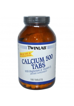 Calcium 500 Vit D 180 табл (Twinlab)