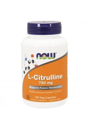 L-Citrulline 750 мг 180 капс (NOW)