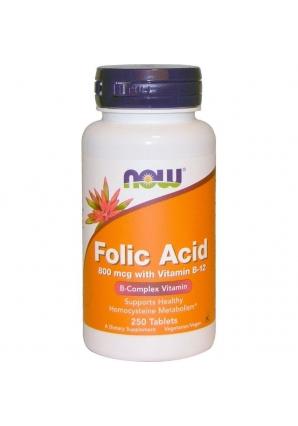 Folic acid 800 мкг 250 табл (NOW)