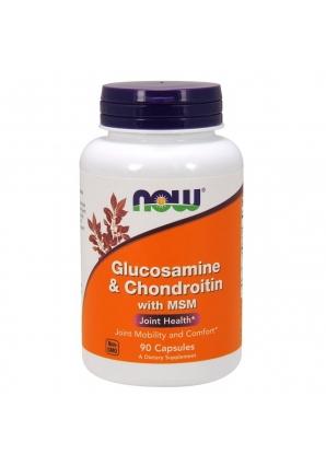 Glucosamine Chondroitin MSM 90 капс (NOW)