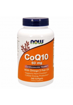 CoQ10 60 мг with Omega-3 240 капс (NOW)