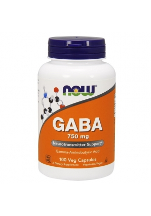 GABA 750 мг - 100 капс (NOW)