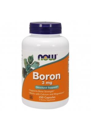 Boron 3 мг 250 капс (NOW)