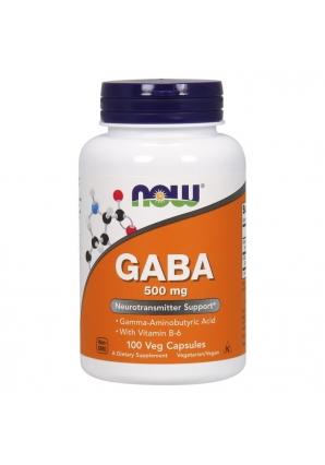 GABA 500 мг - 100 капс (NOW)