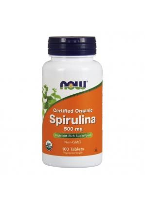 Spirulina 500 мг 100 табл (NOW)