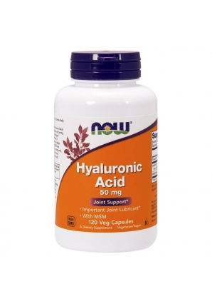 Hyaluronic Acid 50 мг + MSM 120 капс (NOW)