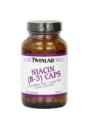 Niacin (B-3) 500 мг 100 капс (Twinlab)